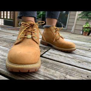 Timberland x Urban Outfitters boots.